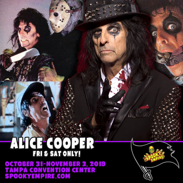 Alice Cooper Appearing at Spooky Empire 2-Days Only!