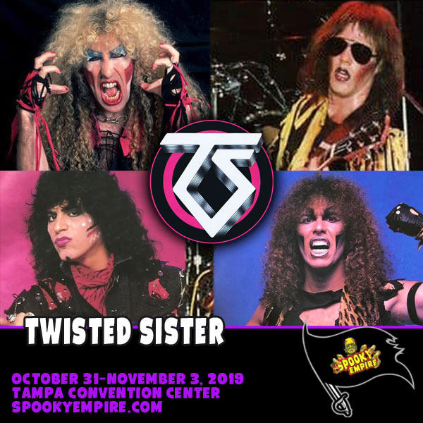 Meet All 4 Members of Twisted Sister, ONLY at Spooky Empire!