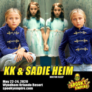 Twins SADIE & KK HEIM of Doctor Sleep Appearing at Spooky this May!
