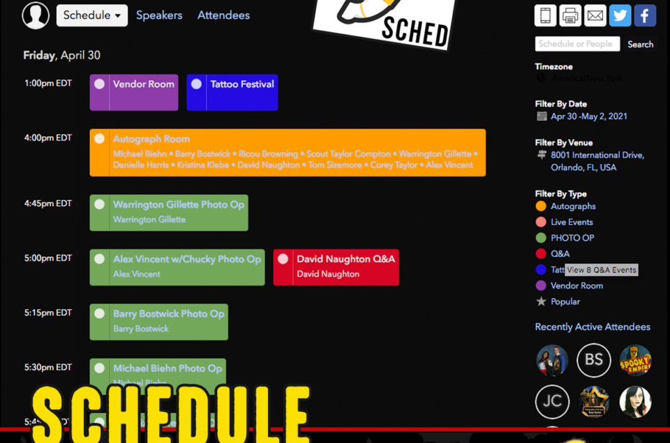 Check Out Our Virtual Schedule